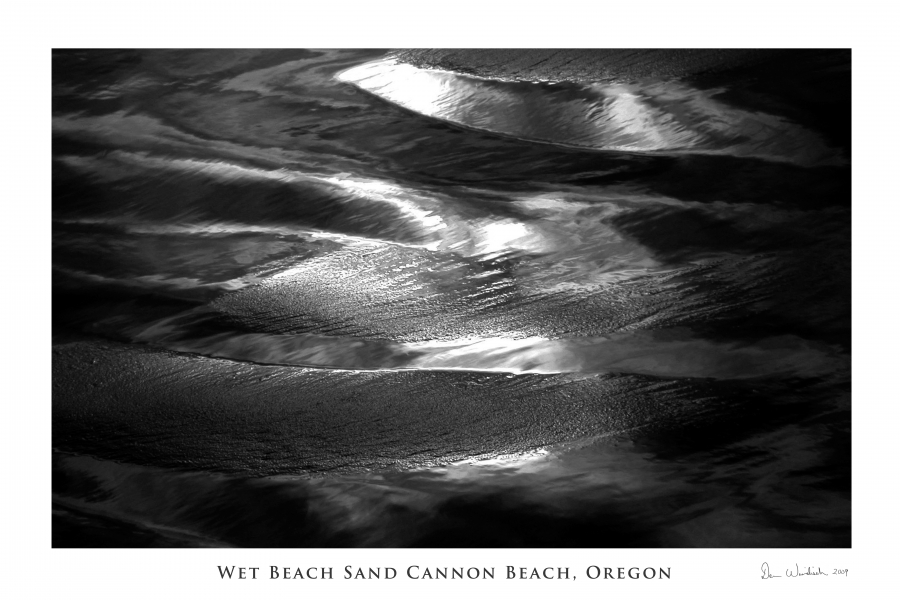 Wet Beach Sand: Cannon Beach Oregon