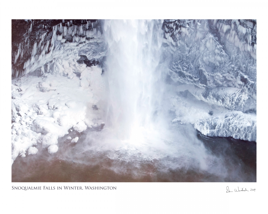 Snoqualmie Falls Winter: Ice snow mist and meditation