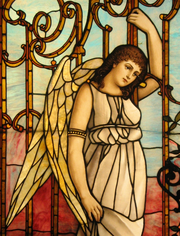 "Angel"" stained glass Driehaus Gallery Navy Pier Chicago 
