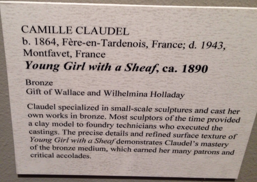 Caludel Young girl sheaf info