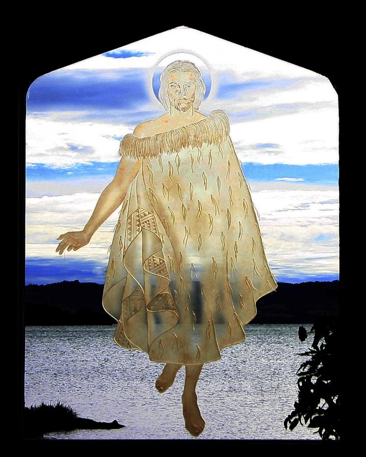 * Rotorua2 Christ on Water 8X10 1170