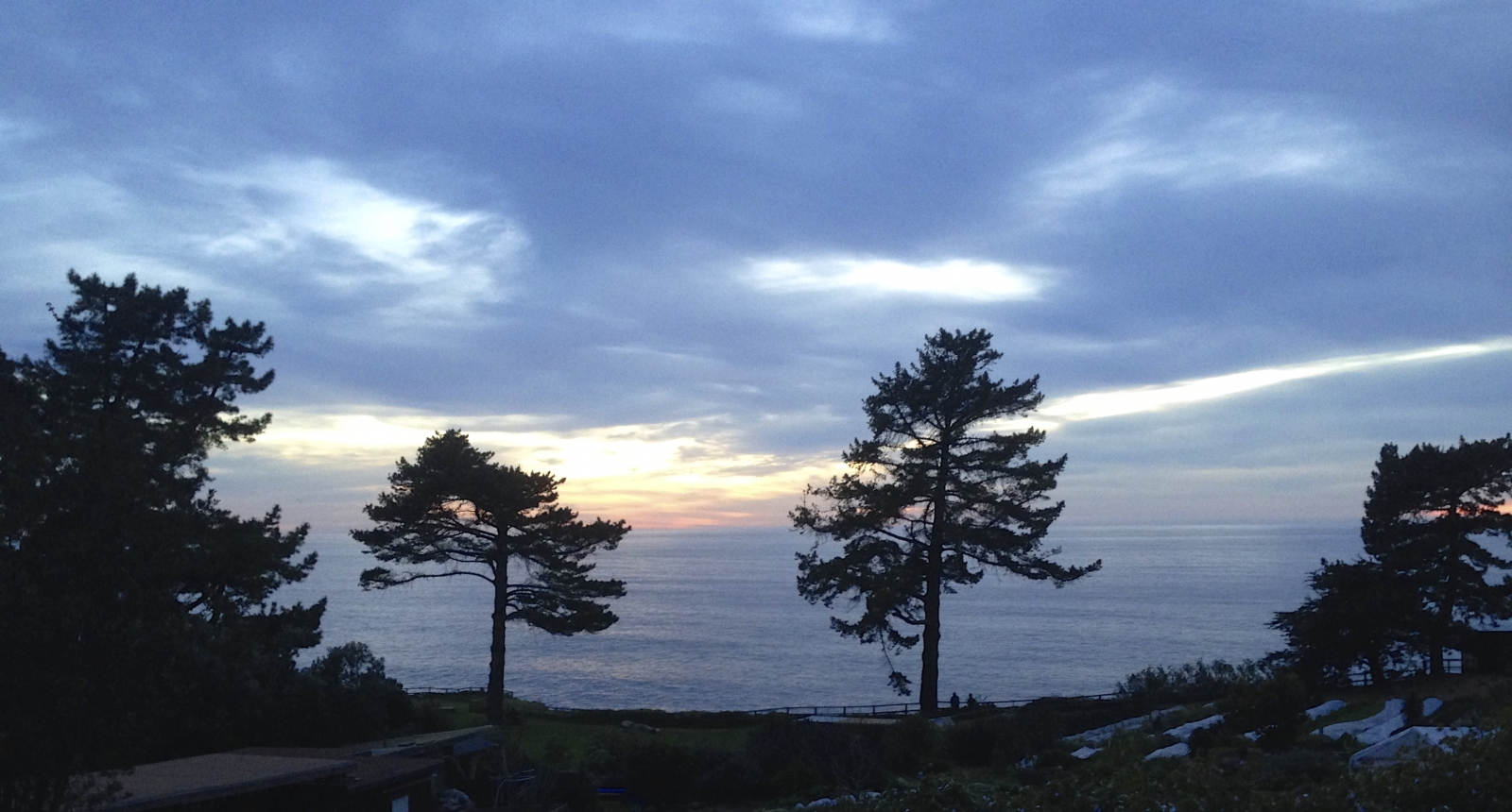 Sunset. Esalen from my room.