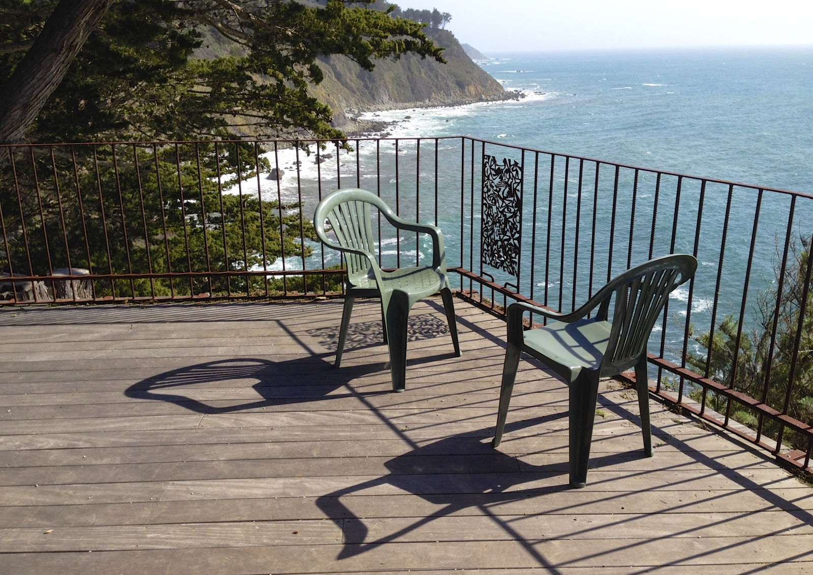 Deck at Fritz Perls Cottage. Esalen.