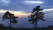 Sunset 2. Esalen from my room.