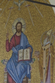 Abbey of  Monte Cassino Mosaic Christ