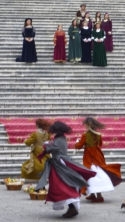 Abbey of  Monte Cassino Medieval Dress Dancers
