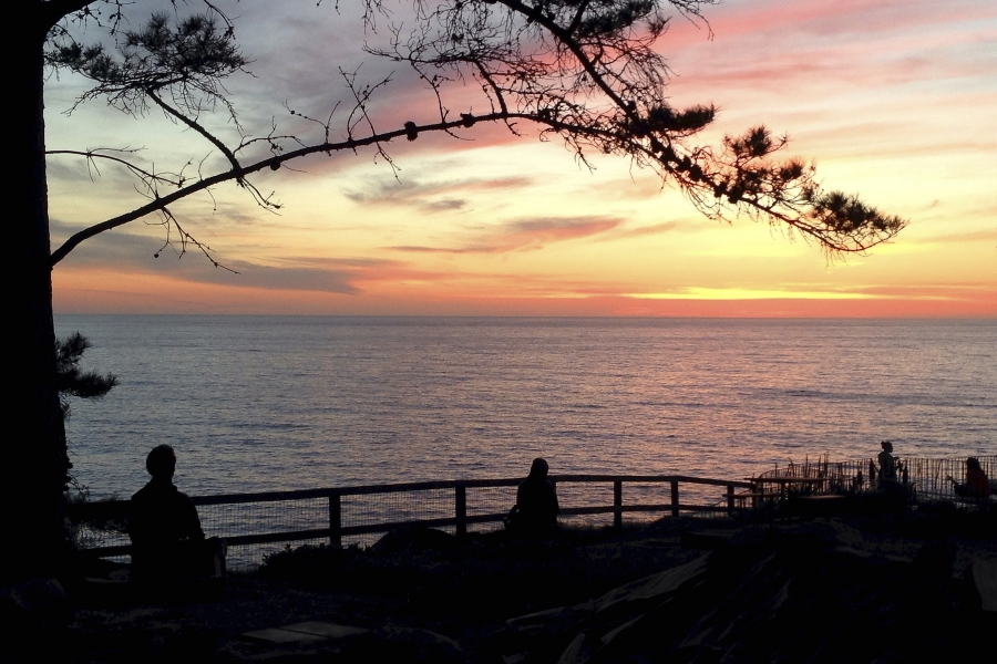 4x6 esalen sunset meditation
