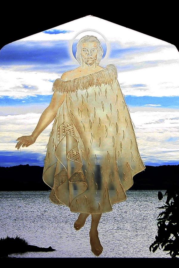 4x6Rotorua Christ on Water 1170