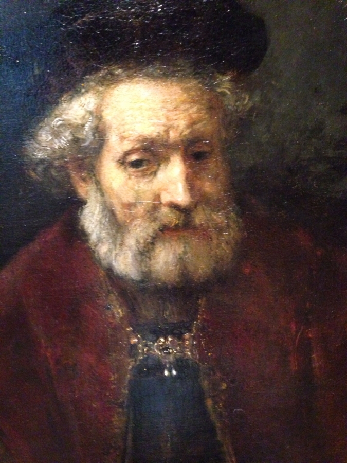 "Rembrandt's ""Portrait of a Bearded old Man with Beret"" Detail 1"
