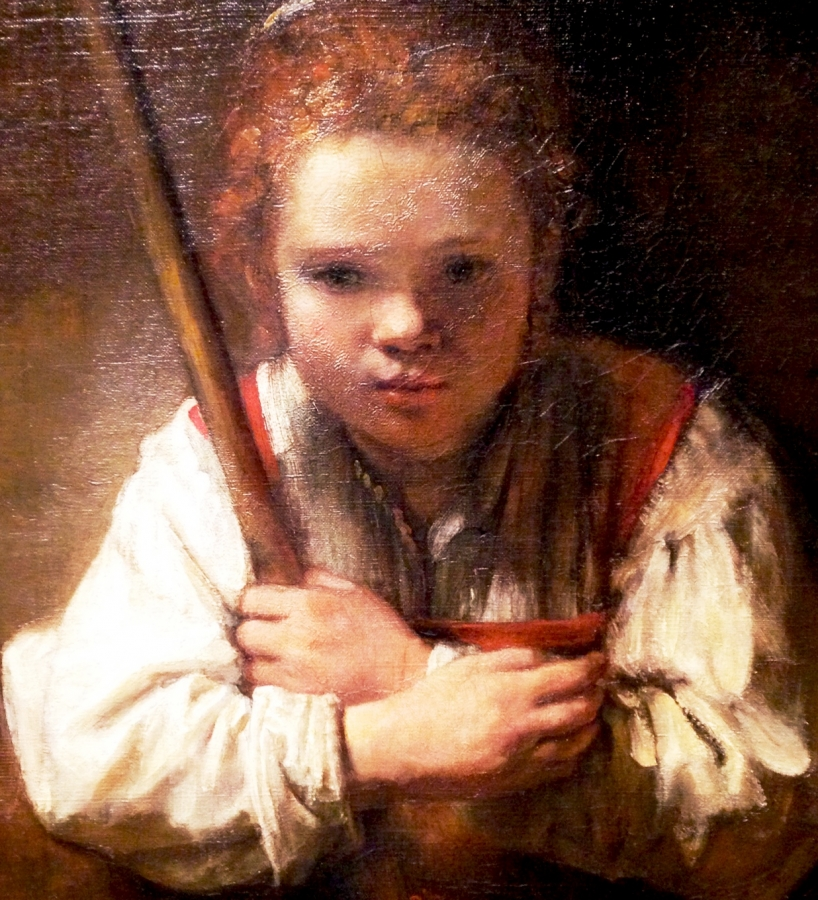 Girl with Broom detail