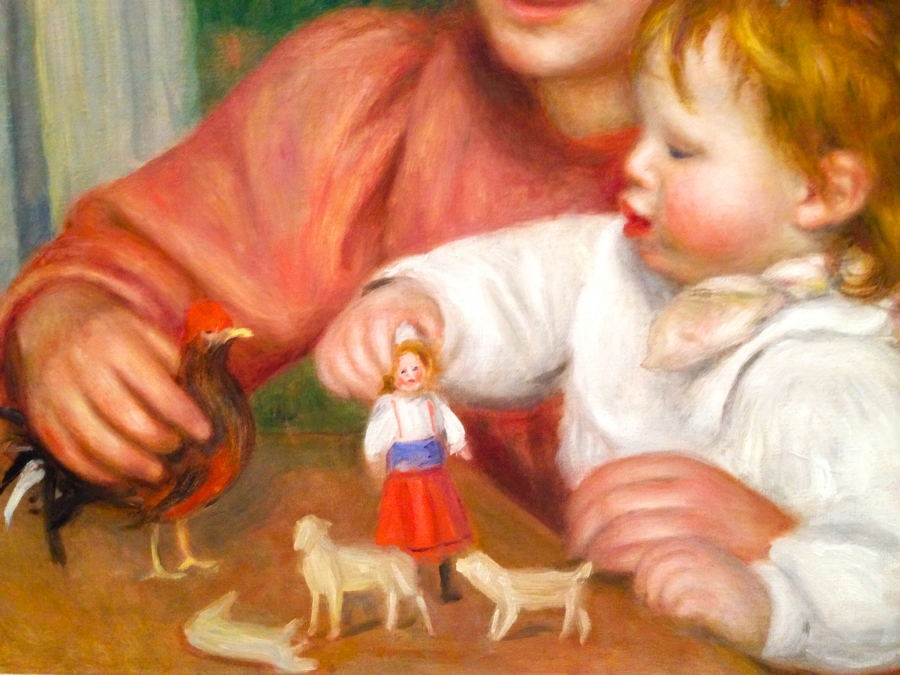 Renoir Child with Toys Detail 2