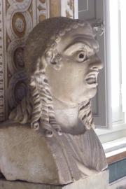 Vatican Museum Unhappy  Statue