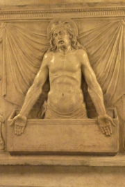 Saint Peters Basilica Dead Pope Christ Statue Detail