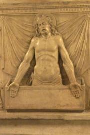Saint Peters Basilica Dead Pope Christ Statue Detail