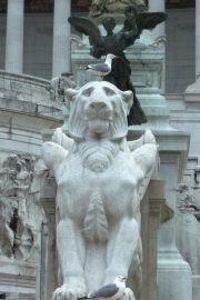 Wedding Cake Rome Sculpture Lion Seagull