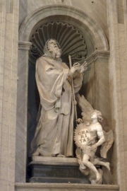 Saint Peters Basilica Statue Charity