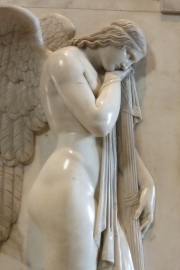 Saint Peters Basilica Angel Statue Detail