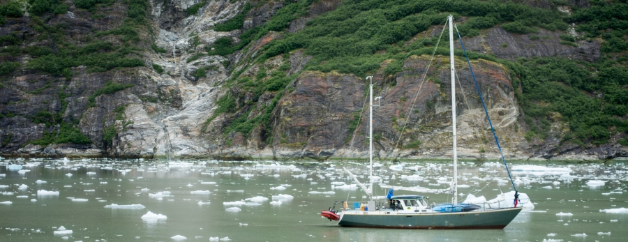 Sailboat Tracy Arm Glacier 2015-16