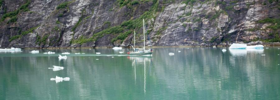 Sailboat Tracy Arm Glacier 2015-3