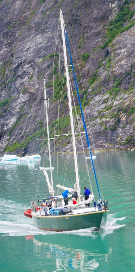 Sailboat Tracy Arm Glacier 2015-6