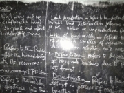 Blackboard at St. Agnes GIrls HS in Chipole.
